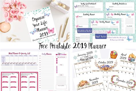 2019 Daily Planner Printable