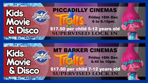 Blue Light Cinemas by Trolls Discos At Wallis 16 Dec 2016