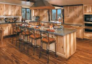 rustic hickory cabinets in a natural stain show tons of character log homes pinterest