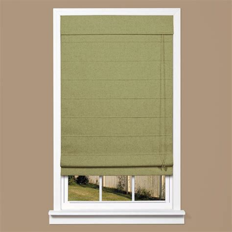 thermal window coverings home depot homebasics green linen look thermal blackout fabric