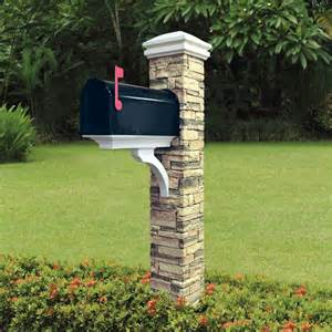 Brick Mailbox Designs Gallery For Gt Stone Mailbox Post