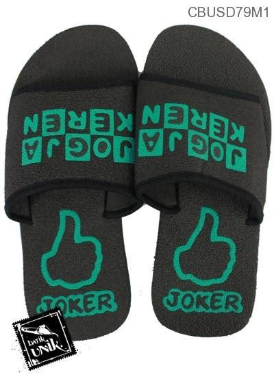 sandal selop joker hitam sandal etnik murah batikunikcom