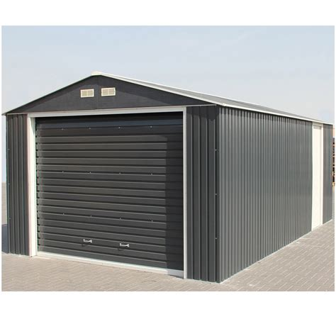 Garage Metallique En Kit 40m2 4108 by Garage M 233 Tal Duramax Porte Sectionnelle 1 Voiture 19 63