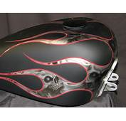 Custom Motorcycle Paint Jobs Skulls And Flames  2017