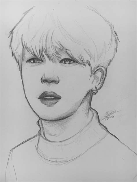 V Drawing Jimin by Bts Sketch Images Search