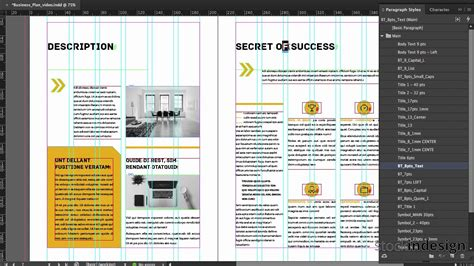 free business template indesign business plan indesign template