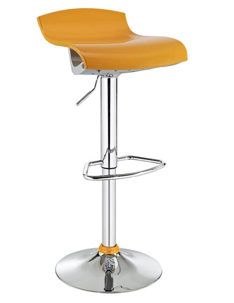 l powell yellow and white abs stool home furniture