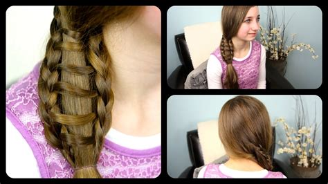 step by step ladder braid how to do ladder braid side ponytail hair style for medium