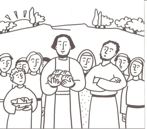printable coloring pages jesus feeds 5000 free feeding the five thousand coloring pages