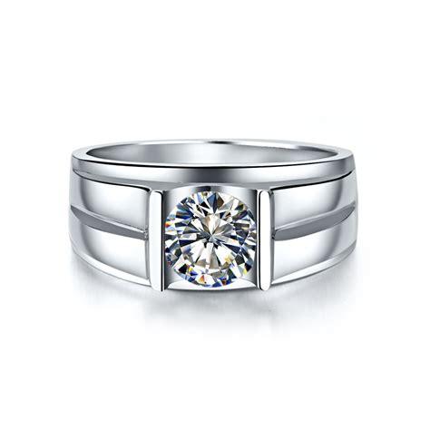14 karat gold ring genuine 585 white gold 1ct lab