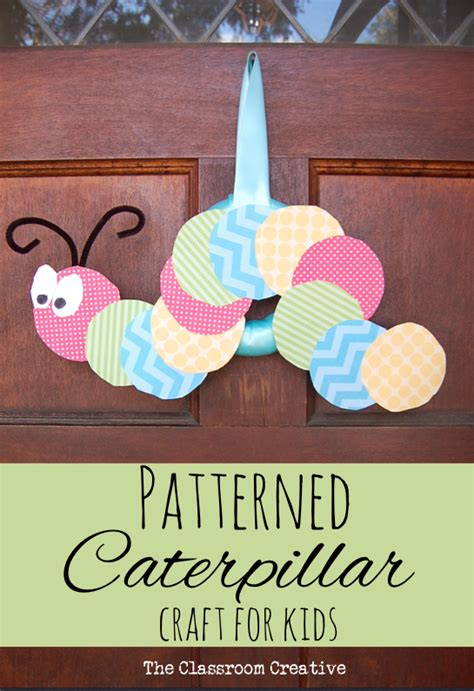 kindergarten pattern craft patterned caterpillar craft for kids