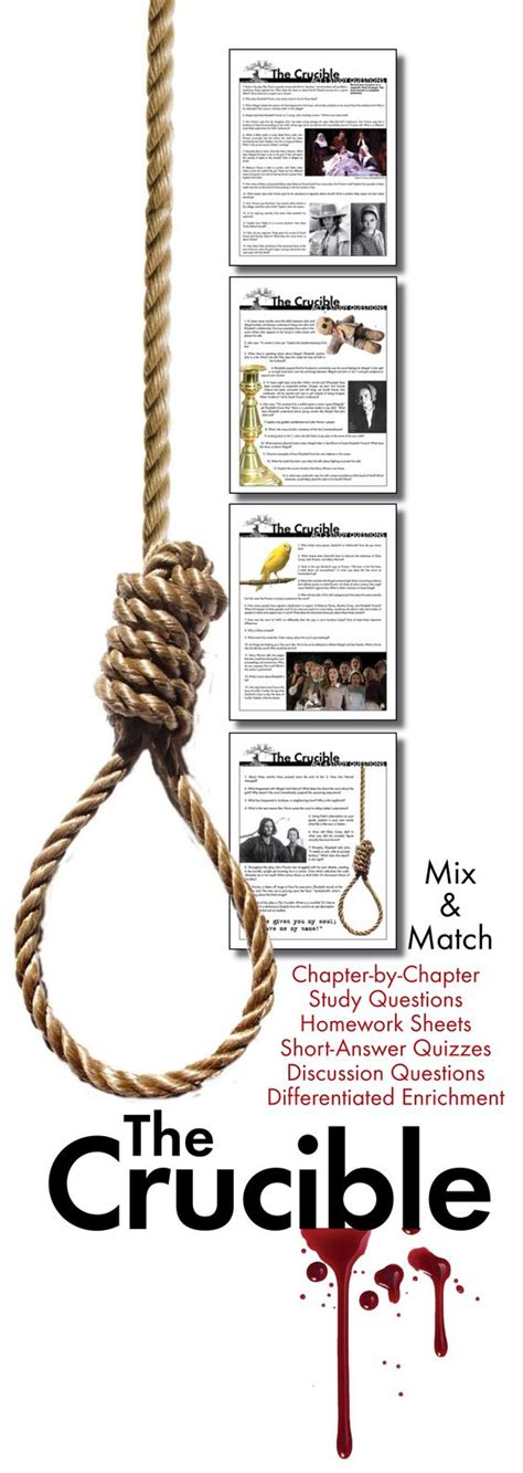 crucible themes hysteria salem witch trials witch trials and worksheets on pinterest