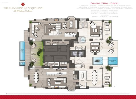 penthouse floor plan mansions at acqualina penthouse hits the market for 55m