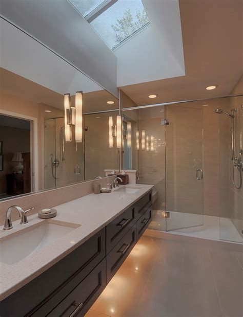 skylight in bathroom a look at some master bathrooms with skylights homes of