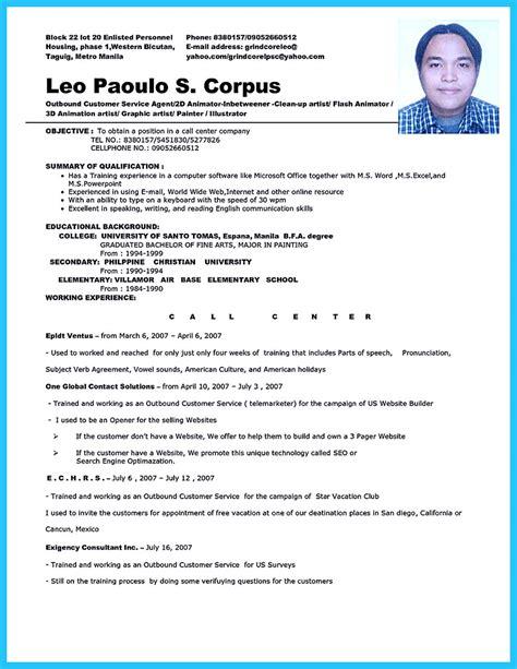 sample resume format for fresh graduates cv for fresh graduate
