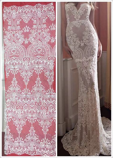 Bahan Kain Tulle Tile Tille Lace newest fashion ivory wedding dress lace fabric lace fabric withe lace lace material