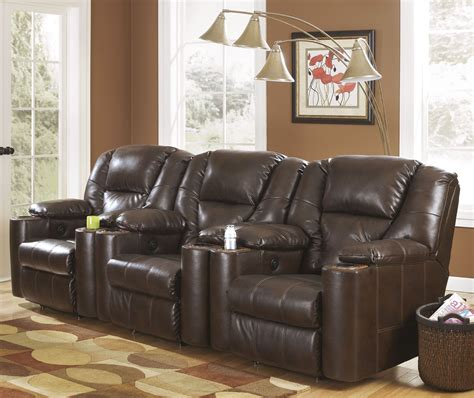 paramount durablend brindle power home theater seating