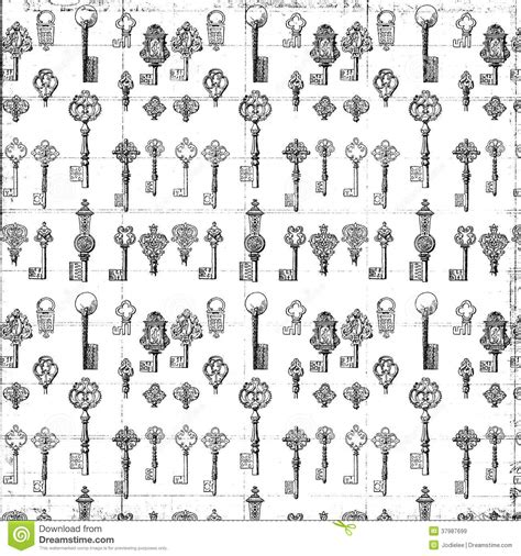 the pattern of white and black keys on the keyboard black and white repeat antique key pattern stock image
