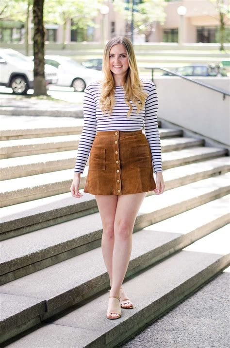 blogger outfit suede skirt outfit idea tobi clothing