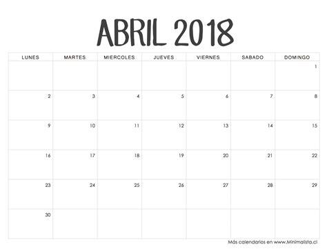 Calendario Abril 2018 Calendario 2018 Abril 28 Images Abril Calendario