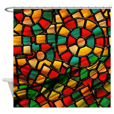 Stained Glass Shower Curtain by Colorful Stained Glass Shower Curtain By Mehrfarbeimleben