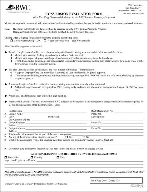 1 Year Builders Warranty Fha by Builder Warranty Form Pike Productoseb Co