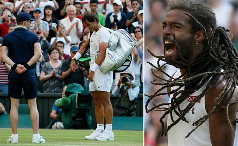 tattoo london wimbledon photos tattoo shines brown roars as nadal crashes out of