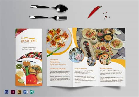 25 catering brochure template psd vector eps jpg