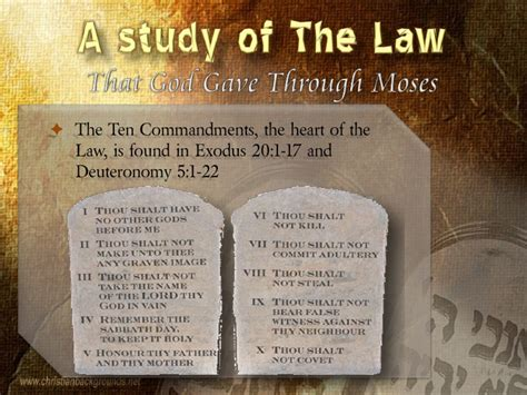 sections of the law study of the law of moses part 1