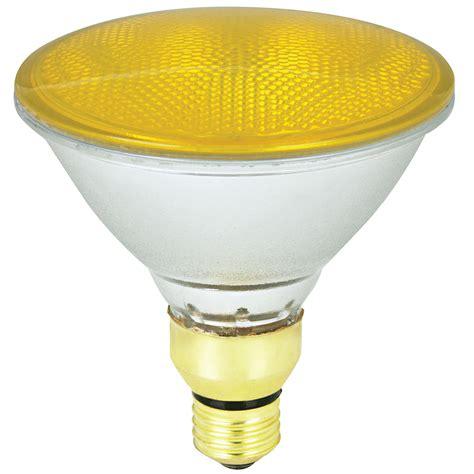 blue light bulbs lowes shop mood lites 90 watt yellow par38 halogen flood light