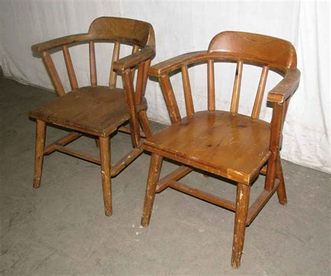 Wooden Captains Chairs by Solid Pine Wooden Captains Chairs Olde Things