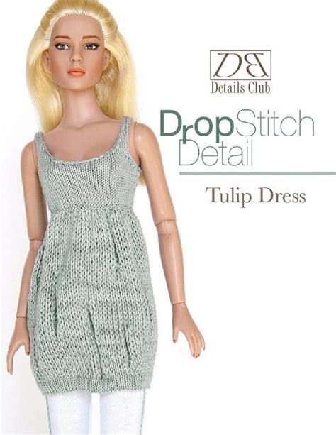 4 inch fashion dolls knitting pattern for 16 inch fashion doll tulip dress
