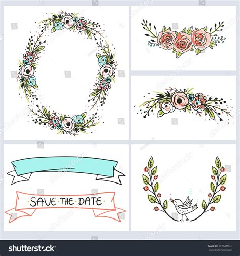 free vector template wedding card wedding invitation cards template vector floral stock