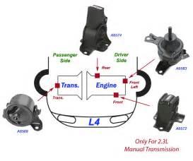 1998 2002 honda accord 2 3l engine motor trans mount