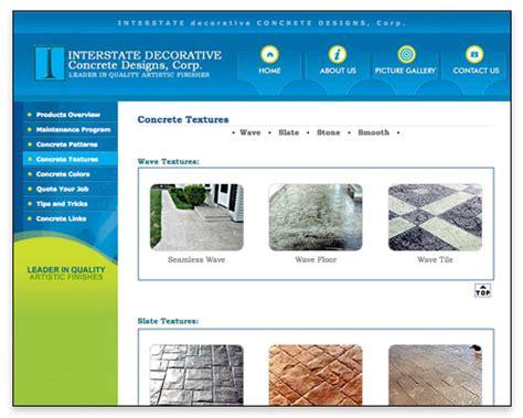 web design masonry layout interstate decorative concrete designs corp boston web