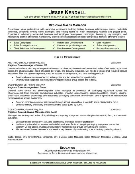 Vineyard Manager Sle Resume by Automotive Sales Manager Resume Sucess