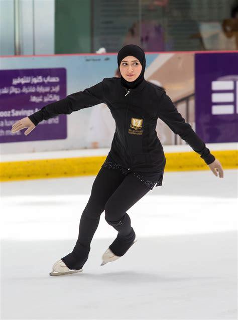Yuna Abu emirati figure skater zahra lari joins disney on cast
