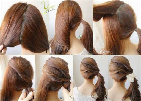 easy hairstyles step by step with pictures 10 awesome hairstyles for lazy girls