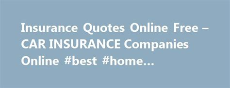 Compare Car Insurance Quotes From Different Companies by 17 Best Insurance Quotes On Insurance