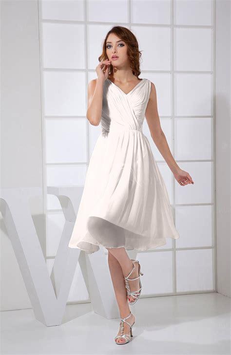 light pink plain    neck sleeveless knee length prom