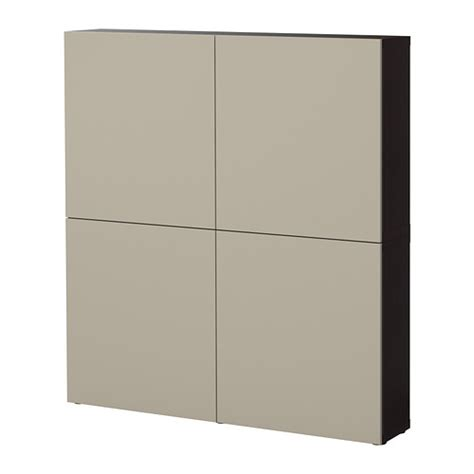 besta vara best 197 storage combination with doors black brown vara