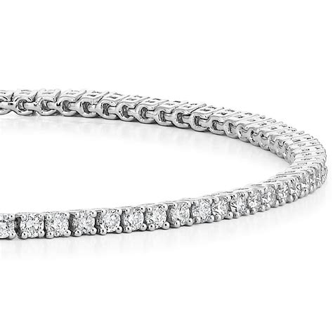 diamond tennis bracelet in 18k white gold 2 blue nile 18k white gold lab created diamond tennis bracelet 2 ct