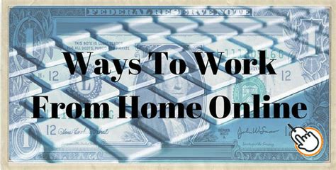 Working From Home Online - ways to work from home online 4 great businesses to start