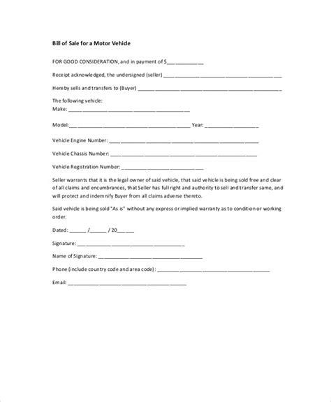 motor vehicle receipt template 8 bill of sale receipt sles sle templates