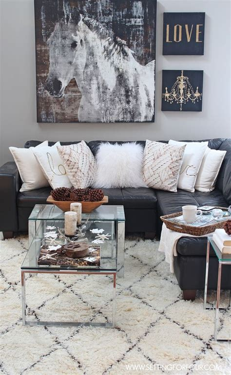 rustic glam flickr photo sharing rustic glam living room new rug love the horse print