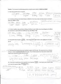 dimensional analysis worksheets davezan