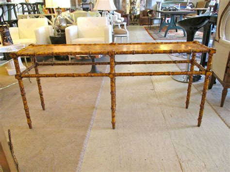 vintage bamboo sofa table vintage faux bamboo sofa console table at 1stdibs