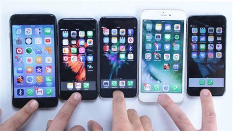 hangi iphone daha hızlı iphone 7 7 plus 6s ve 6 hız testi