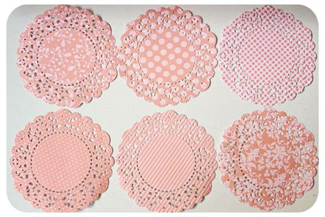 Make Paper Doilies - pink colored paper doily mypapercrafting