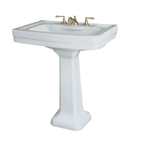 Home Depot Bathroom Sink by St Creations St By Icera Richmond Grande Pedestal Combo Bathroom Sink In White